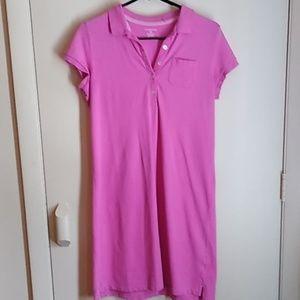Lands End pink tee shirt dress sz SP